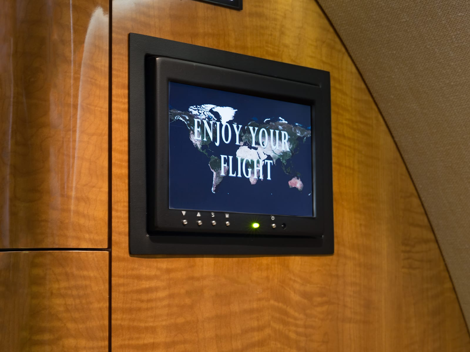 A navigation screen in a Priority Jet Cessna Citation