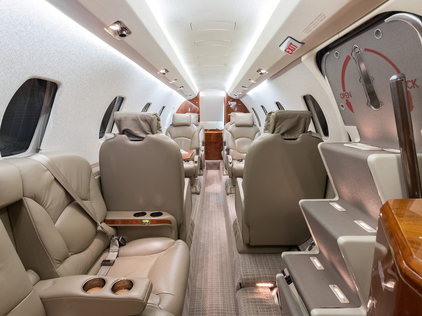 The inside of a Priority Jet Cessna Citation